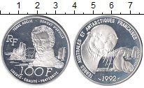 Изображение Монеты Франция 100 франков 1992 Серебро Proof Дюмон Дюрвилль