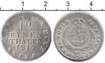 Изображение Монеты Саксония 1/12 талера 1812 Серебро XF+