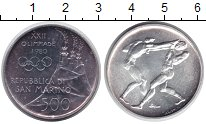 Изображение Монеты Сан-Марино 500 лир 1980 Серебро UNC-