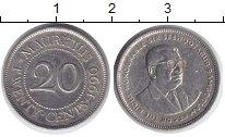 Изображение Монеты Маврикий 20 центов 1990 Медно-никель XF