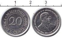 Изображение Монеты Маврикий 20 центов 1999 Медно-никель XF