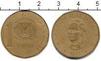 Изображение Монеты Доминиканская республика 1 песо 1992 Латунь VF