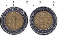 Изображение Монеты Мексика 1 песо 1997 Биметалл XF