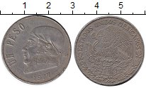 Изображение Монеты Мексика 1 песо 1977 Медно-никель XF