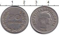 Изображение Монеты Колумбия 20 сентаво 1972 Медно-никель XF