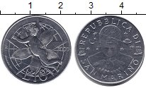Изображение Монеты Сан-Марино 10 лир 2000 Алюминий UNC