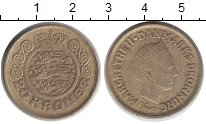 Изображение Монеты Дания 20 крон 1990 Латунь XF