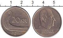 Изображение Мелочь Норвегия 20 крон 2003 Латунь XF Король Харальд V.