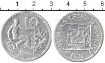 Изображение Монеты Чехословакия 10 крон 1931 Серебро XF-