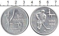 Изображение Монеты Финляндия 50 марок 1982 Серебро UNC- Чемпионат мира по хо