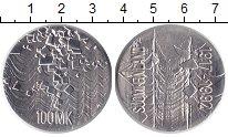 Изображение Монеты Финляндия 100 марок 1992 Серебро UNC-