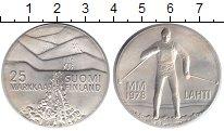 Изображение Монеты Финляндия 25 марок 1978 Серебро UNC Чемпионат мира по лы