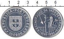 Изображение Монеты Португалия 100 эскудо 1990 Серебро UNC 350 - летие восстано