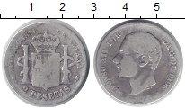Изображение Монеты Испания 2 песеты 1882 Серебро VF `Король Альфонсо XII