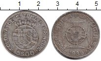 Изображение Монеты Сан-Томе и Принсипи 5 эскудо 1939 Серебро VF