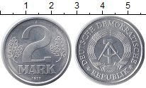 Изображение Монеты ГДР 2 марки 1977 Алюминий XF А