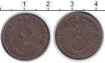 Изображение Монеты Третий Рейх 2 пфеннига 1940 Медь XF