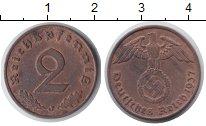 Изображение Монеты Третий Рейх 2 пфеннига 1937 Медь XF J
