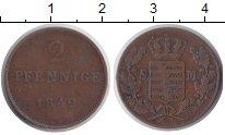 Изображение Монеты Саксония 2 пфеннига 1842 Медь XF
