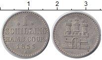 Изображение Монеты Гамбург 1 шиллинг 1855 Серебро XF