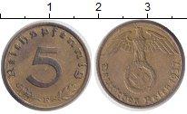 Изображение Монеты Третий Рейх 5 пфеннигов 1937 Медь XF E