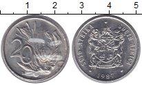Изображение Монеты ЮАР 20 центов 1987 Медно-никель UNC