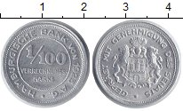 Изображение Монеты Гамбург 1/100 марки 1925 Алюминий XF