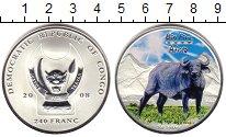 Изображение Монеты Конго 240 франков 2008 Серебро UNC