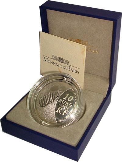 Изображение Подарочные монеты Франция Год астрономии 2009 Серебро Proof Монета оригинальной