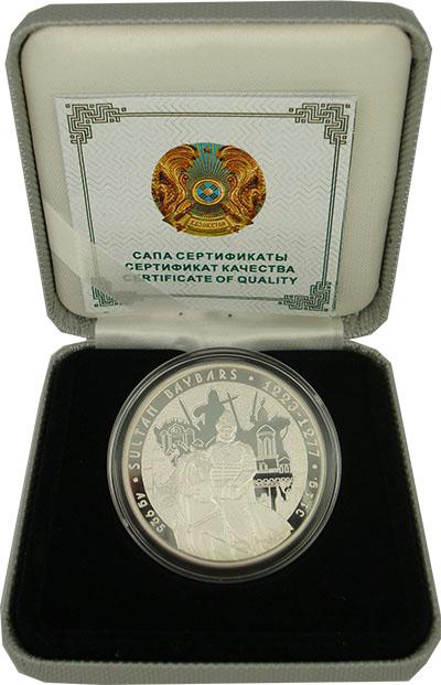 Изображение Подарочные монеты Казахстан Султан Бейбарс 2012 Серебро Proof `Монета номиналом 10