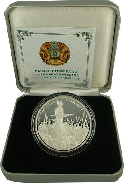 Изображение Подарочные монеты Казахстан Томирис 2010 Серебро Proof
