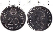 Изображение Монеты Венгрия 20 форинтов 1990 Медно-никель XF