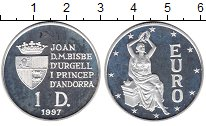 Изображение Монеты Андорра 1 динер 1997 Серебро UNC-