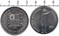 Изображение Монеты Андорра 2 динера 1987 Медно-никель XF
