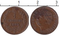 Изображение Монеты Италия 1 сентесимо 1895 Медь XF
