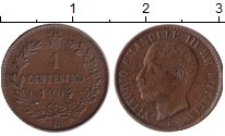 Изображение Монеты Италия 1 сентесимо 1904 Медь XF