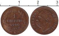 Изображение Монеты Италия 1 сентесимо 1900 Медь XF