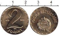 Изображение Монеты Венгрия 2 форинта 1990 Латунь UNC-