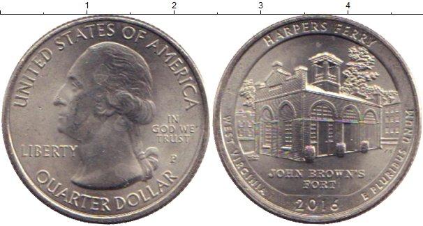 Картинка Мелочь США 1/4 доллара Медно-никель 2016