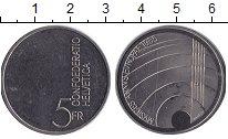 Изображение Монеты Швейцария 5 франков 1985 Медно-никель XF Год музыки