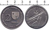 Изображение Монеты Андорра 2 динера 1987 Медно-никель UNC-