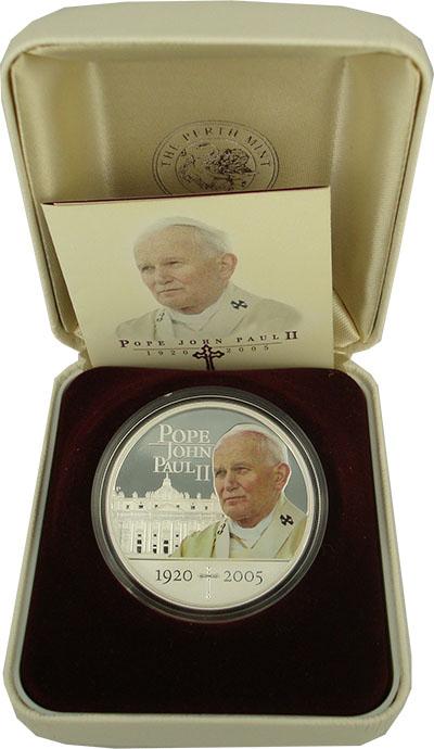 Изображение Подарочные наборы Острова Кука Иоанн Павел II 2005 Серебро Proof