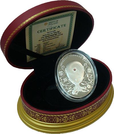 Изображение Подарочные монеты Новая Зеландия Ниуэ Яйца Фаберже 2011 Серебро Proof