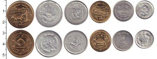 Изображение Наборы монет Непал Непал 0  XF В наборе 6 монет ном