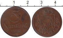 Изображение Монеты Латвия 5 сантим 1922 Бронза VF-
