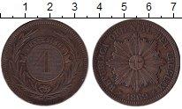 Изображение Монеты Уругвай 4 сентесимо 1869 Медь VF