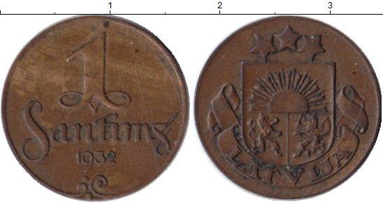 Картинка Монеты Латвия 1 сантим Бронза 1932