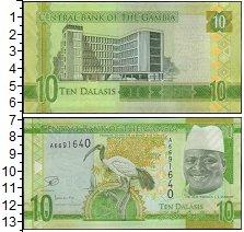 Изображение Банкноты Гамбия 10 даласи 2015  UNC-