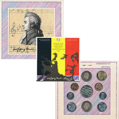Изображение Подарочные монеты Бельгия Набор 1991 года 1991  UNC Годовой набор циркул