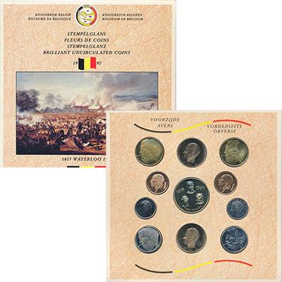 Изображение Подарочные монеты Бельгия Набор 1990 года 1990  UNC- Годовой набор циркул